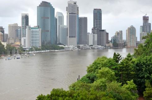 Brisbane City Skyscrapers and Brisbane River