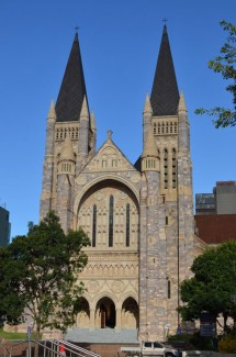 Front of St John's Cathedral, Brisbane